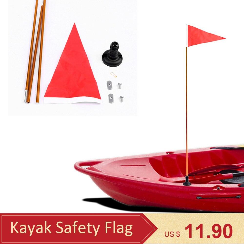 New 47inch Kayak Safety Flag Mount Kit DIY Kayak Accessories Marine Canoe Kayak Boat Fishing Canoe Yacht Dinghy Boat Flag Mount