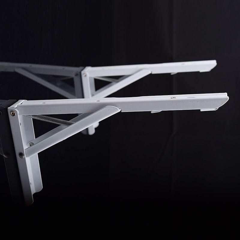 10pcs dhl free shipping iron folding wall shelf bracket bookself bracket decorative folding brackets scaffold home