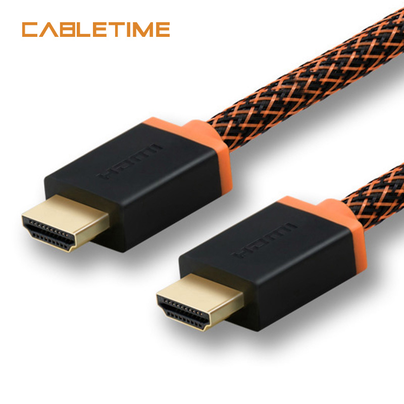 все цены на Cabletime Thunderbolt HDMI cable HDMI TO HDMI cable 4K 2.0 60hz adaptor converter 1-3m 5m audio extractor for PC display N047 онлайн