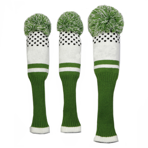 Image 3 - New Style 3pcs/set 3 color Stripe Kniting Golf Driver Wooden Head Covers Knit Wool 1 3 5 Fairway Protect Headcover