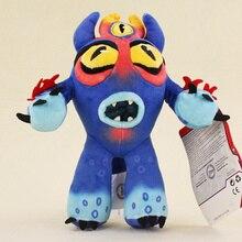 19cm Big Hero 6 Baymax Plush Dolls Blue 3 Eye 3D Fred Stuffed Plush Doll Toy