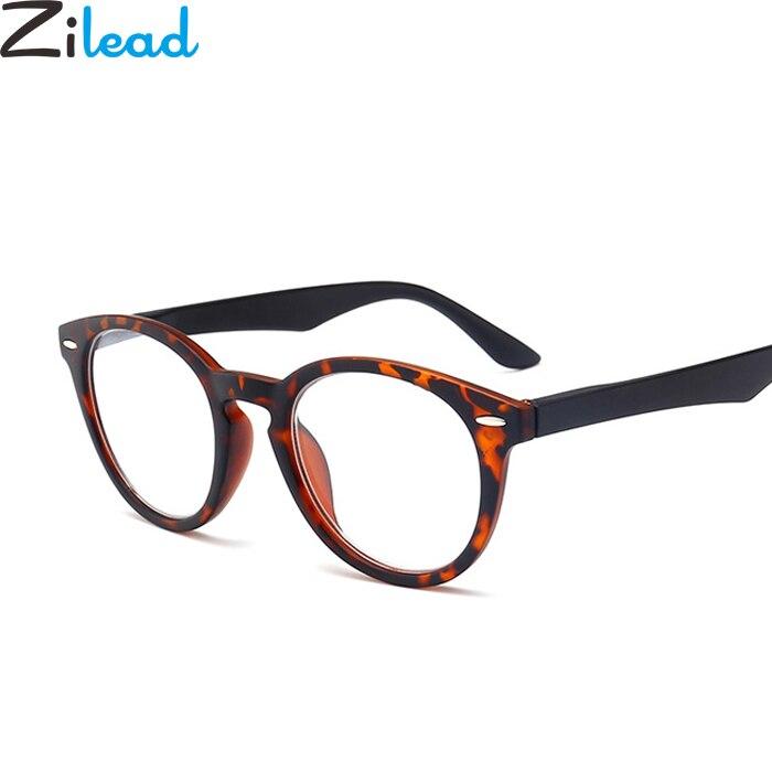 1ed2f45eb4d Zilead Urltra-Light Full Frame Reading Glasses Fashion Leopard Presbyopia  Eyeglasses Myopic Lens oculos de