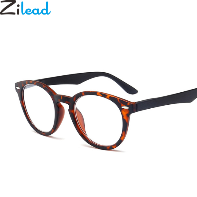 Zilead Urltra-Light Full Frame Reading Glasses Fashion Leopard Presbyopia Eyeglasses Myopic Lens oculos de grau For Men Women