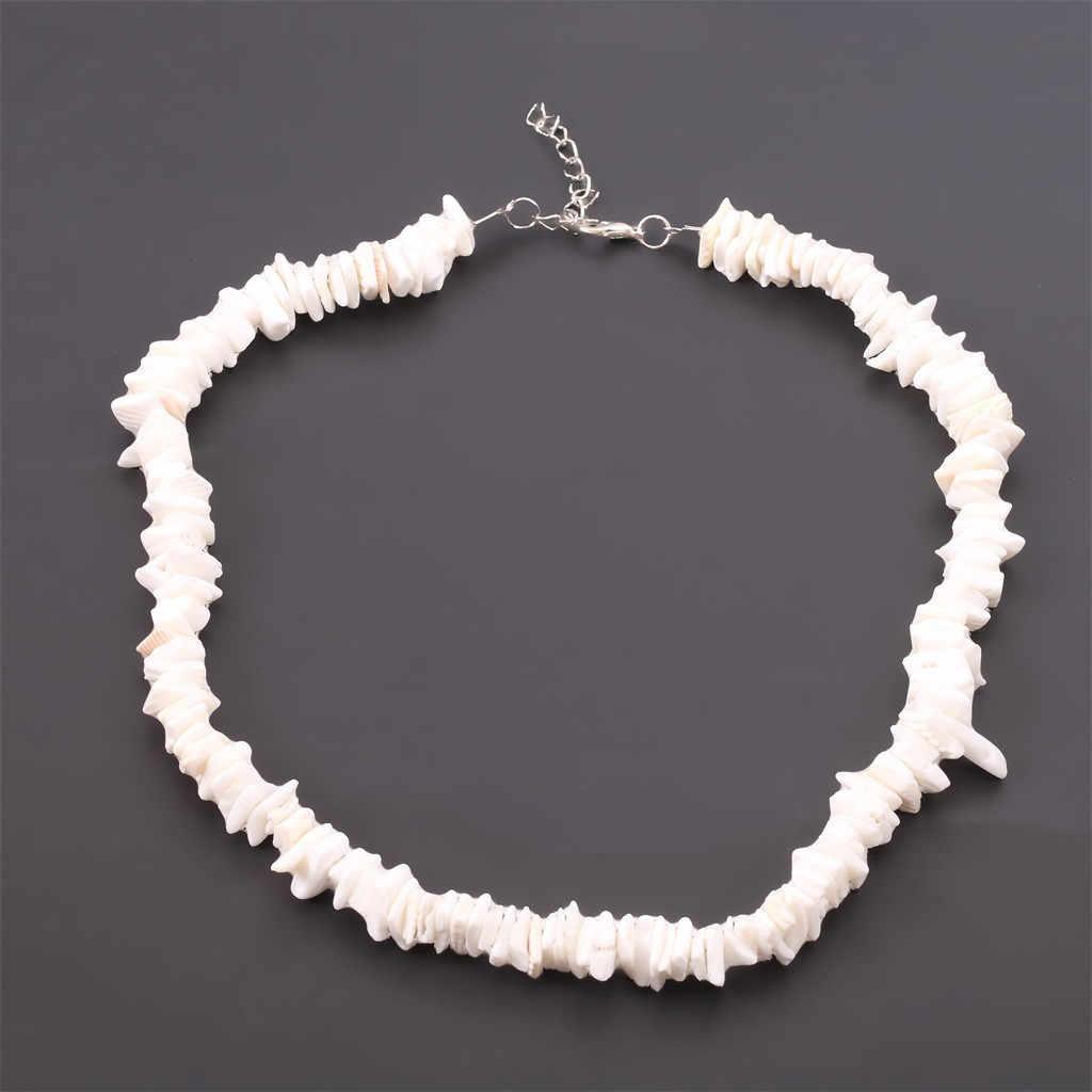 Kalung Baru Gaya Laut Warna Putih Chic Retro Kreatif Alami Shell Potongan Kalung Wanita Perhiasan Femme Set Hadiah untuk Wanita 6.17