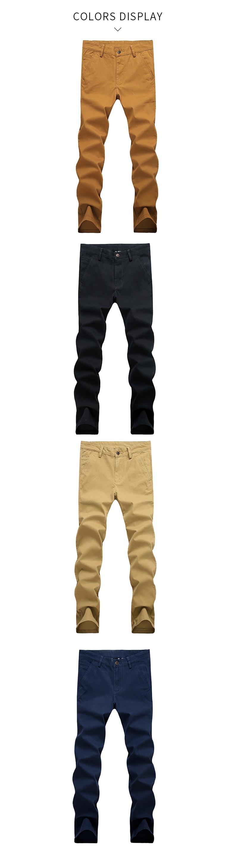 HTB1c1RCdMmTBuNjy1Xbq6yMrVXaL VOMINT Mens Pants High Quality Cotton Casual Pants Stretch male trousers man long Straight 4 color Plus size pant suit 42 44 46