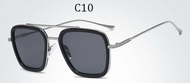 2019 אופנה הנוקמים טוני סטארק טיסה 006 סגנון משקפי שמש גברים כיכר תעופה מותג עיצוב משקפיים שמש Oculos דה סול UV400