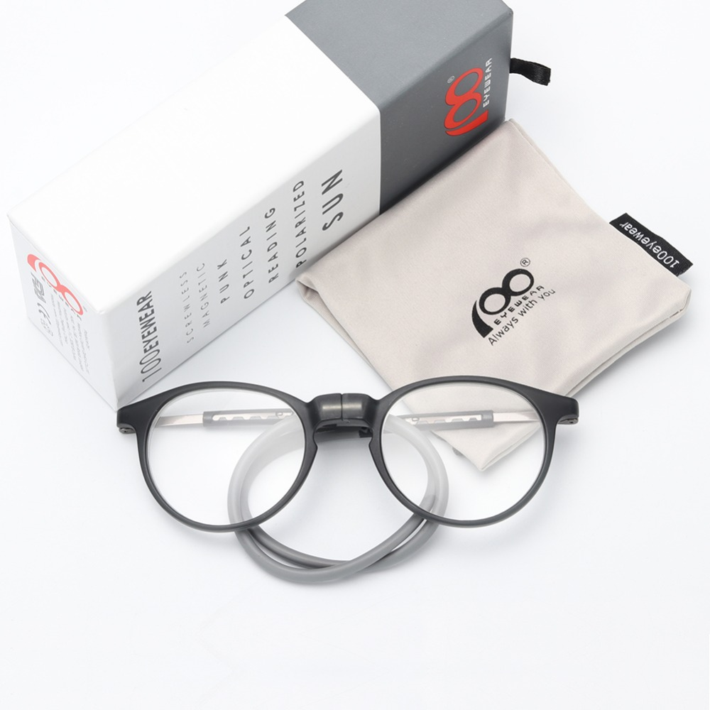 Women Men Magnetic Reading Glasses with Silicone Neck Hanging Clip On Magnet Holder Diopter Eye Glasses Frame