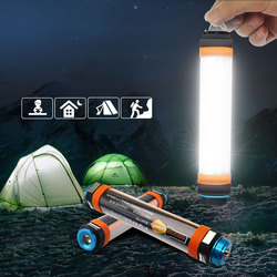 IP68 LED Camping Lantern with Magnet Tent Light USB Charging Outdoor Emergency Power Light 6 Modes Flashlight Mosquito Repellent