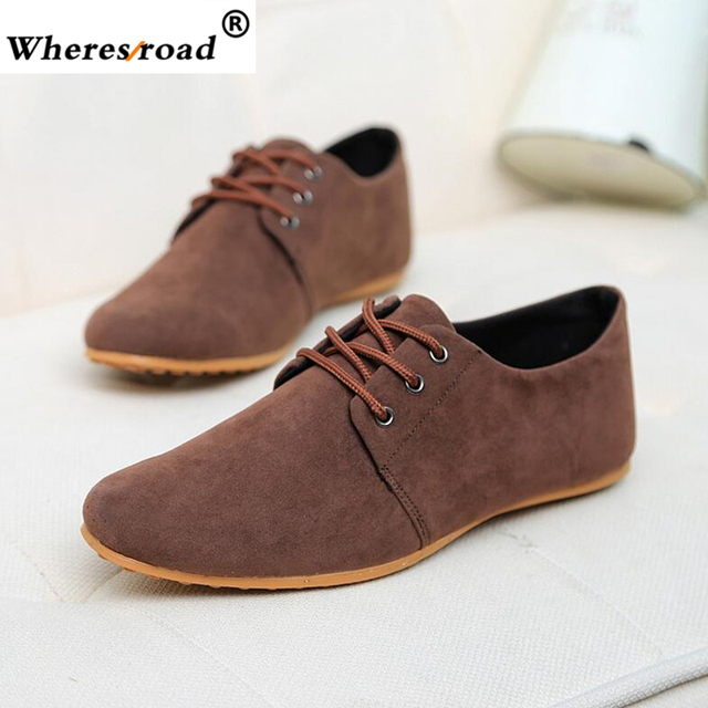 2c4f488af54 2018 Wheresroad Leather Men s Casual Shoes Black Men Fashion Sneaker  Comfortable Walking Driving Loafers Shoes Plus size 39-46