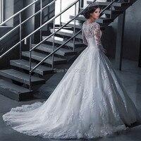Wuzhiyi свадебное платье длинное vestido de noiva на заказ свадебное платье бальное платье на молнии сзади платье для свадьбы платье невесты