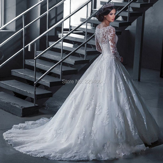wuzhiyi wedding dress long vestido de noiva Custom made wedding gown ball gown zipper back robe mariage For wedding bride dress
