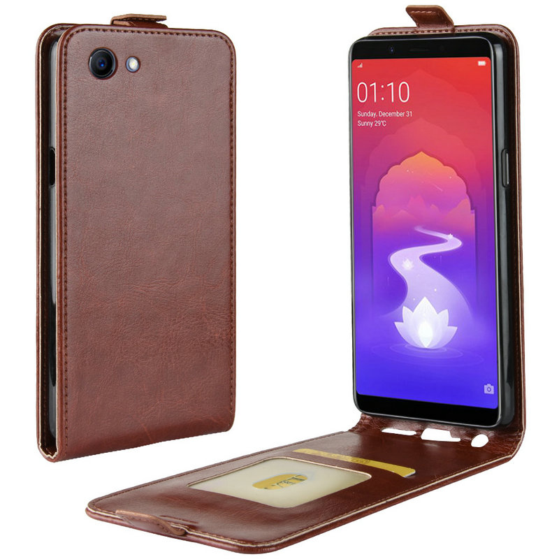 Retro Leather Cover case for Oppo <font><b>F7</b></font> Youth for Oppo Realme 1 one CPH1859 CPH1861 for Oppo A73s Wallet flip leather cases coque image