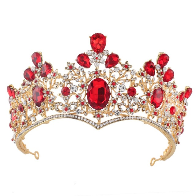 Gorgeous Sparkling Silver Gold Crystal Big Wedding Crown Headband Bridal  Tiara Party Show Pageant Hair Accessories b9cbcf85312a