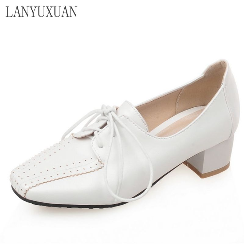 LANYUXUAN Size Big 34-52 New 2017 Wedding Shoes Sale Zapatos Mujer Platform High Heels Women Pumps Spring Autumn Shoes E1209 spring autumn gold women pumps sexy ankle strap ladies shoes big size 33 45 super high 12 cm platform high heels zapatos mujer
