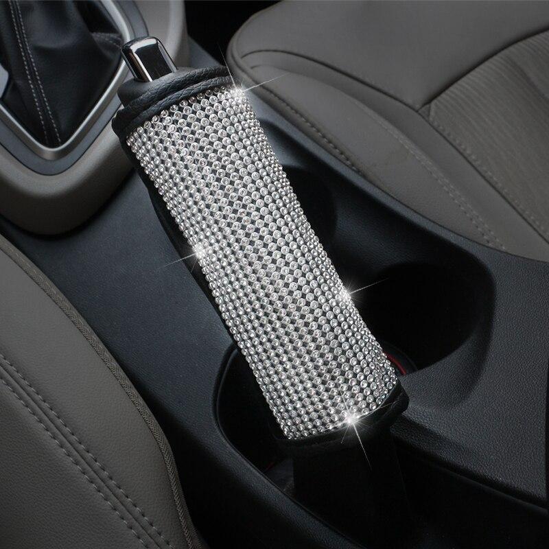 Bling Bling Rhinestones Crystal Car Steering Wheel Cover PU Leather Steering wheel covers Auto Accessories Case