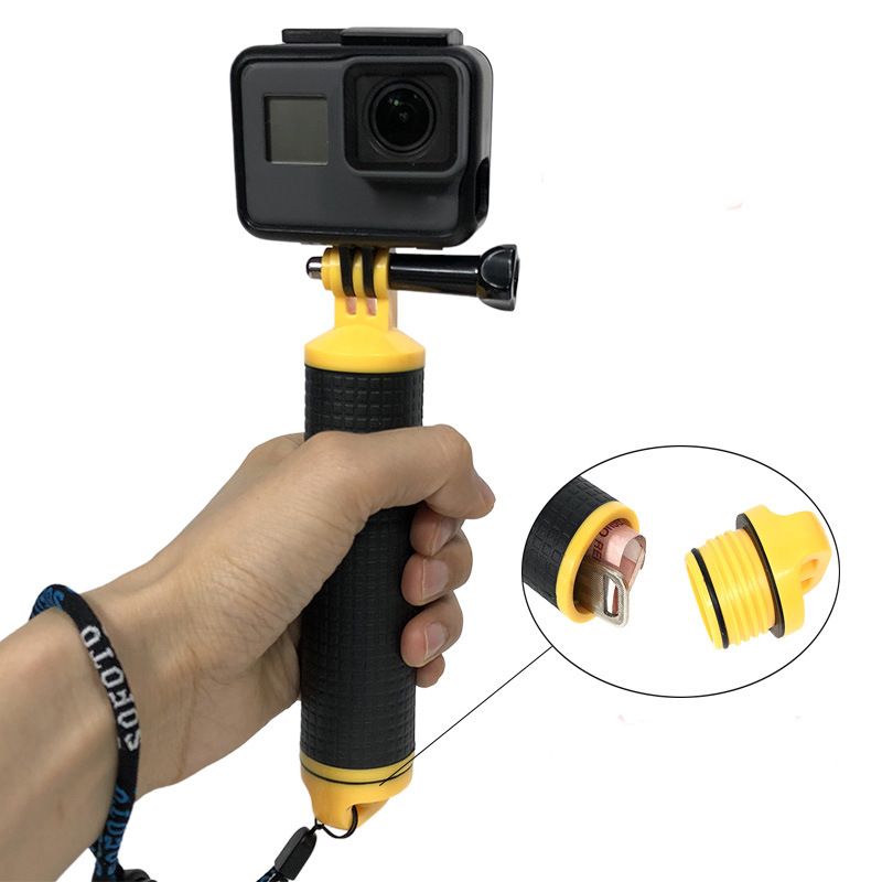 Flutuabilidade vara flutuante aperto de mão lidar com vara de mergulho para xiaomi yi gopro hero 7 6 5 4 3 + série acessórios da câmera ação