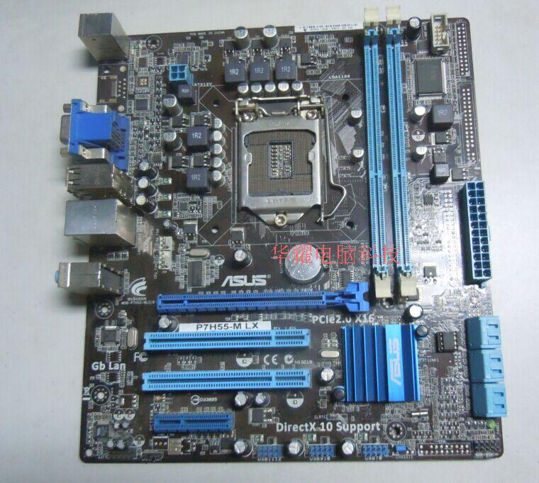 ФОТО Free shipping 100% original motherboard for ASUS P7H55-M LX LGA 1156 DDR3support I3 I5 I7 H55 Desktop motherboard