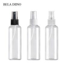 5Pcs Feinen Nebel Kunststoff PET Spray Flasche 100ml Reise Kosmetische Flaschen Set Make Up Flüssigkeit Container Nachfüllbare Parfüm Zerstäuber