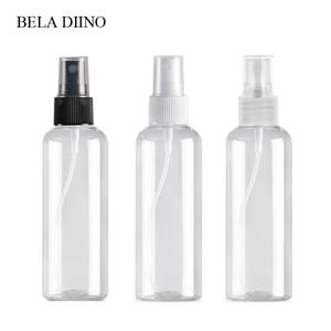Image 1 - 5Pcs Fine Mist Plastic PET Spray Bottle 100ml Travel Cosmetic Bottles Set Makeup Liquid Container Refillable Perfume Atomizer