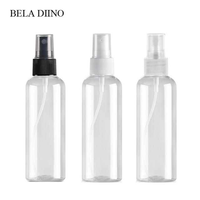5Pcs Fine Mist Plastic PET Spray Bottle 100ml Travel Cosmetic Bottles Set Makeup Liquid Container Refillable Perfume Atomizer