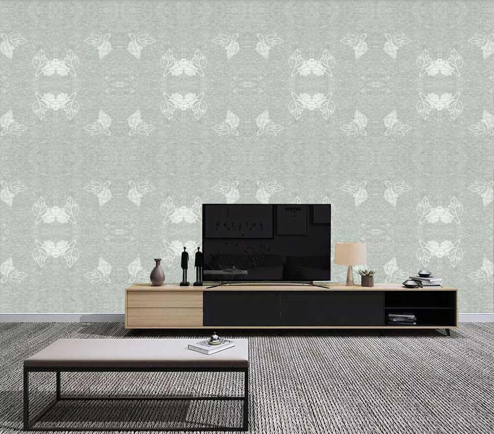 Пользовательские обои текстура Выгравированные листья фон стены