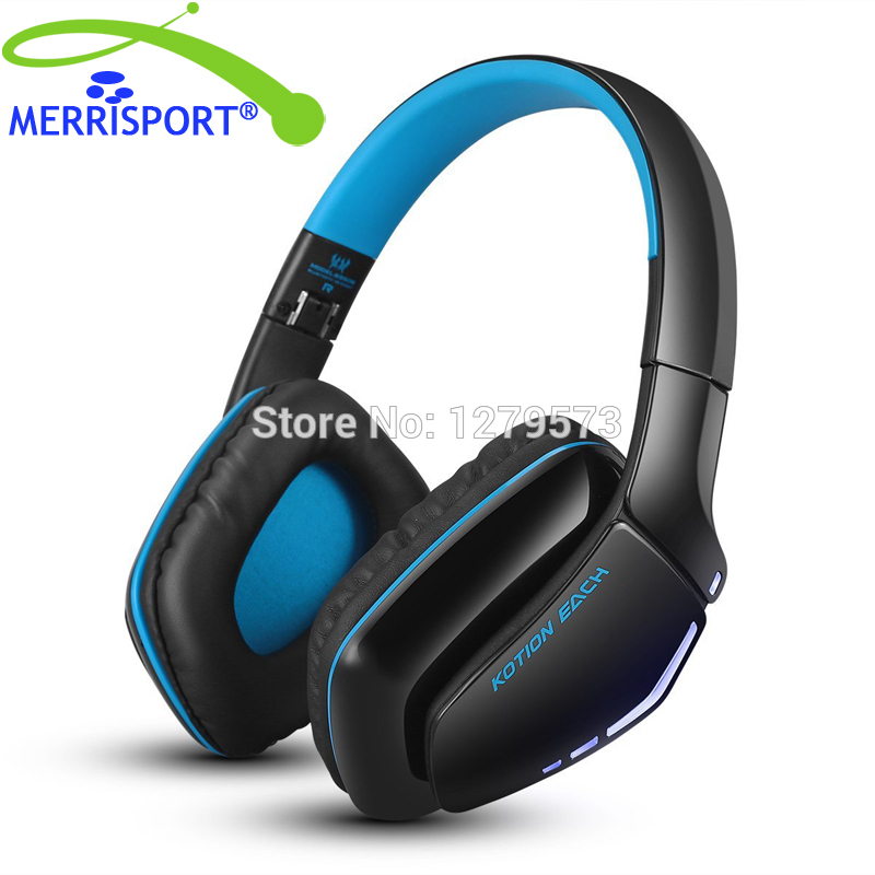 MERRISPORT V4.1 Bluetooth Hifi Bass Stereo Headphones, Wireless Headsets with Built-in Mic for Cell Phone Tablet PC MP4 PS4 Blue outdoor grenade shape bluetooth wireless portable handfree speaker with mic for cell phone tablet