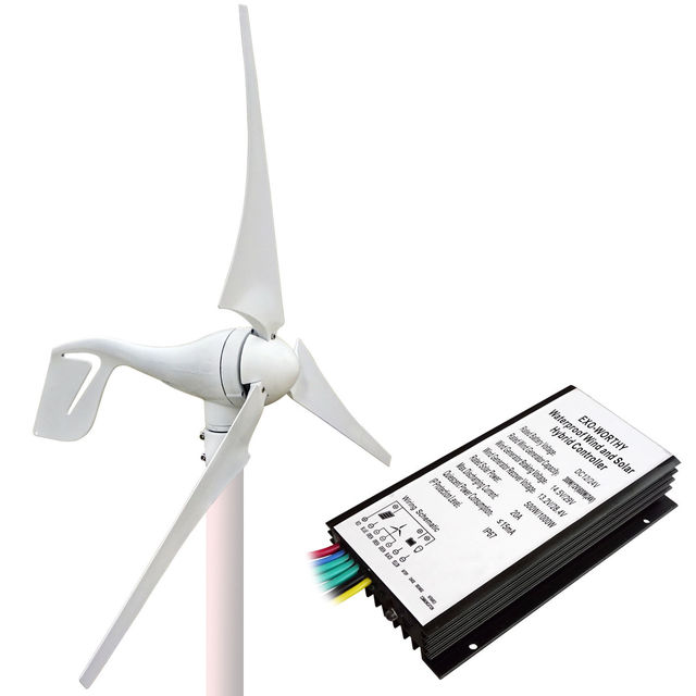 1400W Kit:400W Wind Turbine Generator&10*100W Solar Panel&1.5KW 24-110V Inverter
