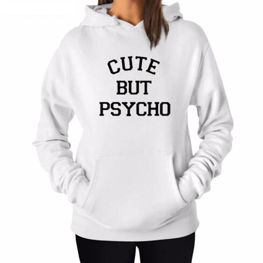 Cut But Psycho Women Winter Harajuku Fashion Hoodies Pullover Letter Printed Sweatshirts Couple Unisex Jumper Sweat