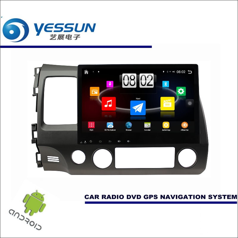 YESSUN Auto <font><b>Android</b></font>-Player Multimedia Für <font><b>Honda</b></font> <font><b>Civic</b></font> 2006 ~ 2011 Radio <font><b>Stereo</b></font> GPS Nav Navi Navigation (keine CD DVD) 10