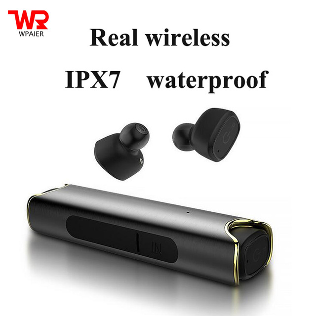 3babb14293f WPAIER TWS-S2 Real wireless Bluetooth headphones V4.2 outdoor sport IPX7  Waterproof Invisible