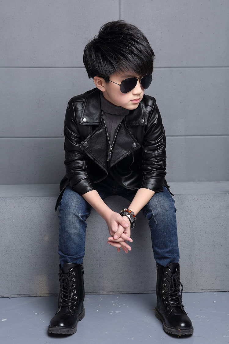 Leather jacket boy - Aliexpress Com Buy Kids Outwear 2017 Autumn Winter Girls Coats And Jackets Boys Pu Leather Jacket Casual Turn Down Collar Solid Children Outerwear From