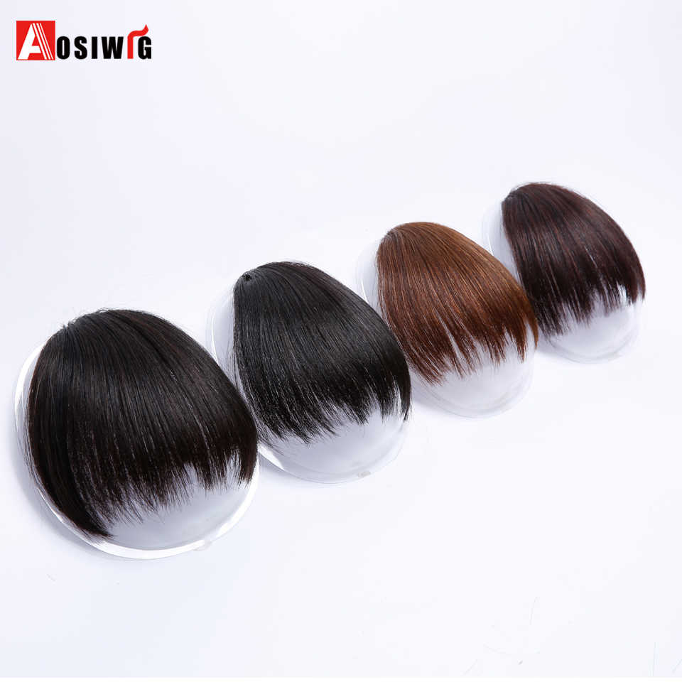 Short Fake Hair Bangs Heat Resistant Synthetic Hairpieces Clip In Hair Extensions For Women Bangs Hairstyles Aosiwig Synthetic Bangs Aliexpress