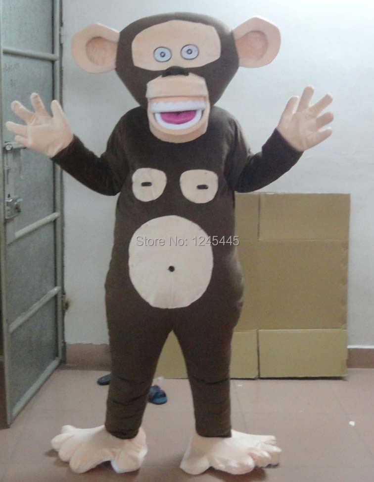 Mascot Costumes & Accessories Lively Grey Sock Small Monkey Mascot Costume Mascotte Little Monkey With Big Round Ears Big Red Mouth Adult No.885 Free Ship
