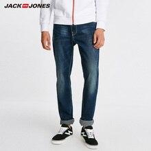 Джек Джонс Мужские теплые хлопчатобумажные твердые прямые джинсовые брюки Байкерские джинсы джинсы мужские | 218432505