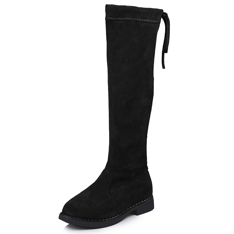 JGVIKOTO Winter Fashion Rubber Boots For Girls Over-the-knee Kids Boots Children Knee-high Warm Cotton Soft Plush Back-tied ChicJGVIKOTO Winter Fashion Rubber Boots For Girls Over-the-knee Kids Boots Children Knee-high Warm Cotton Soft Plush Back-tied Chic