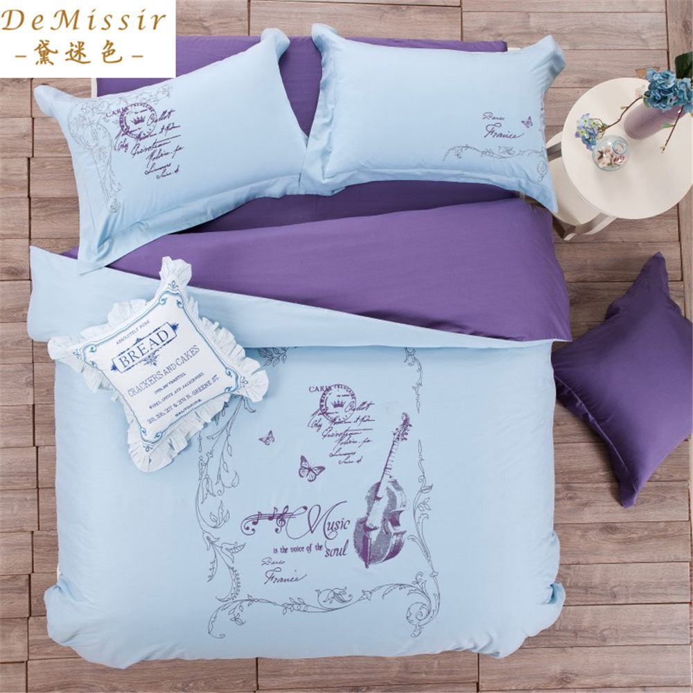 Popular blue girls bedding buy cheap blue girls bedding for Housse de couette king size
