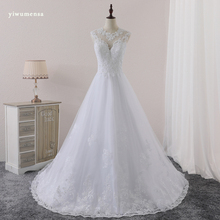 yiwumensa Vestido de novias Lace A Line Vintage wedding dresses sleeveless wedding dress 2017 Sexy Bridal gown robe de mariee