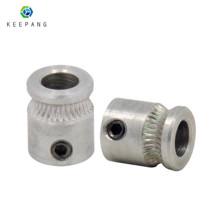 Polea De Impresora 3D, extrusora MK8, engranaje del conductor para extrusora de filamentos de 1,75mm y 3,0mm, polea de eje de 9mm * 5mm * 11mm, engranaje de acero inoxidable