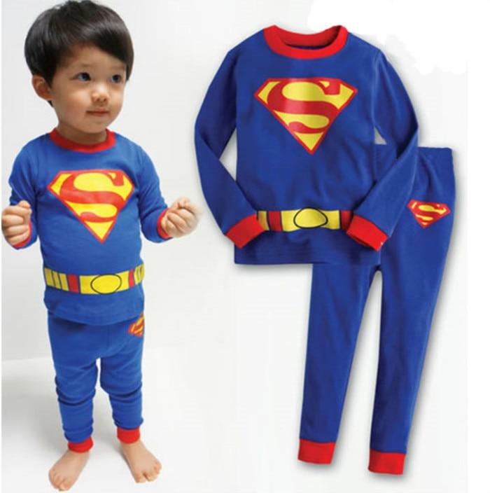 4c1d3cc68 2pcs Spiderman Batman Superman Baby Boys Kids Children Infantil T ...