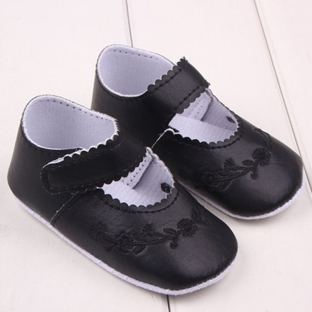 Hot Kid Girl Pu Leather Princess Crib Shoes Newborn Comfy Outdoor Baby Shoes