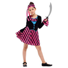 Umorden Purple Princess Pirate Costume for Girls Kids Halloween Purim Carnival New Year Party Costumes Dress Up