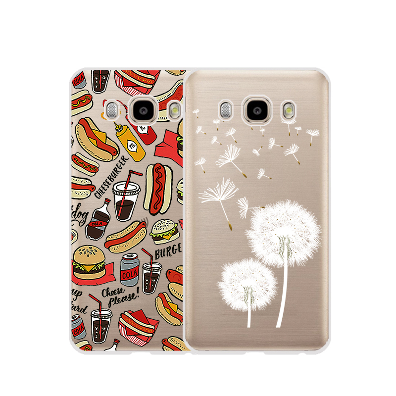 TPU Soft Case For Samsung Galaxy J5 2016 J510 Transparent Printing Drawing Silicone Cases Cover For Samsung Galaxy J5 2016