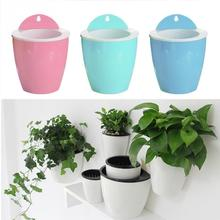 Home Decoration Gardening Flower Pots Creative Wall Hanging Lazy Flower Pots New Plastic Flower Plate