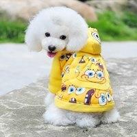 Anime cartón de los caracteres chinos diseño Puppy Small Dog invierno espesar Warm Coat Jacket ropa de cuatro patas suéter de algodón F-ktbb