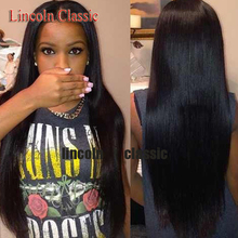 Free Shipping Virgin Brazilian 100% Real Human Hair glueless Lace Wigs Silky Straight  Lace Front Wig 130%-180% Density in stock