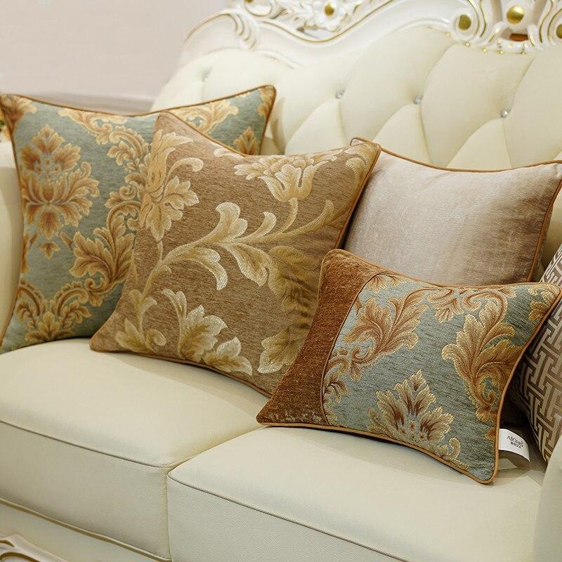 Light coffee series cushion cover europe noble design pillow cover housse de coussin almofadas for Housse de sofa