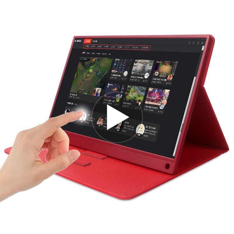 15.6 polegada Monitor Full HD 1080 IPS Toque Portátil USB C Monitor Portátil Alto-falantes Dupla Compatível com Laptop notebook