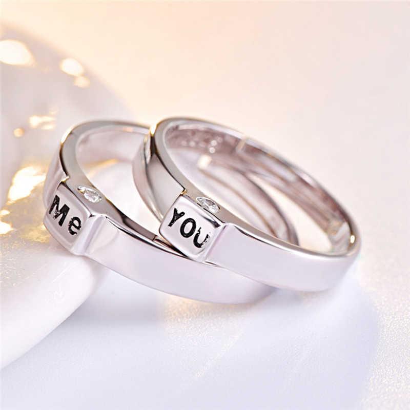 สแตนเลสสตีลแฟชั่นสไตล์และ me ชุดแหวนคู่แต่งงาน