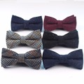Mens Cotton Wool Formal Clothing Bow Ties Man Wedding Geometric Dot Neck Bowties Bowknot Gravatas Dark Color Bowtie Butterfly