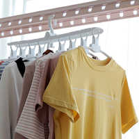Multifunctional Plastic Foldable Clothes Hanger Save Space Laundry Drying Racks Wardrobe Closet Storage Organizer Clothes Hanger